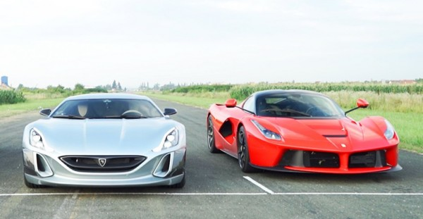 Rimac Laferrar drag 600x311 at Rimac Concept One Kicks LaFerrari's Bottom in Drag Race