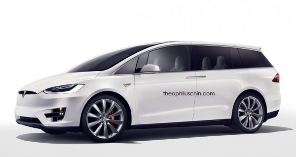 Tesla Minivan 1 600x318 at Tesla Minivan Renderings Emerge