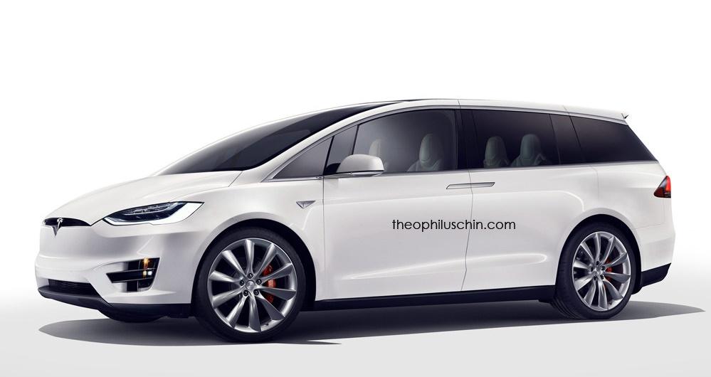 Tesla Minivan 1 at Tesla Minivan Renderings Emerge