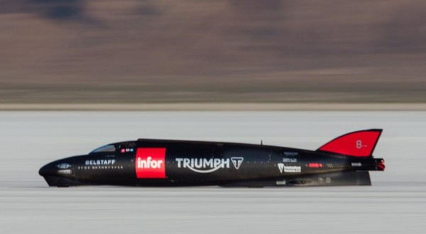 Triumph speed record 600x330 at Triumph Gunning for Motorcycle Land Speed World Record