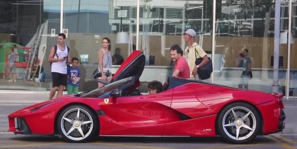 Aperta Barcelona video 600x301 at Your Best Look Yet at Ferrari LaFerrari Aperta