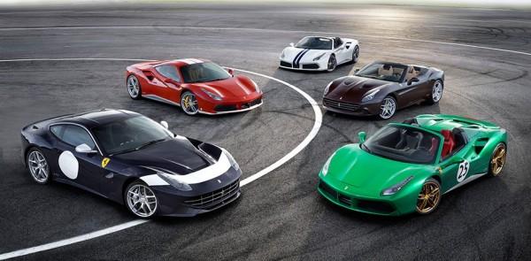 Ferrari schieramento 600x295 at Ferrari Marks its 70th Anniversary with Special Liveries