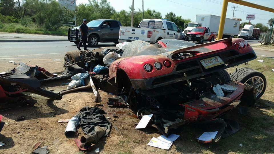 Koenigsegg CCX Demolished 00 at Custom Koenigsegg CCX Demolished in Mexican Crash