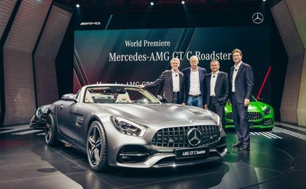 Mercedes AMG GT C Roadster Paris Debut 600x371 at Watch Mercedes AMG GT C Roadster Make its Paris Debut