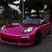 Pink Chrome Porsche Panamera 3 175x175 At By Impressive Wrap