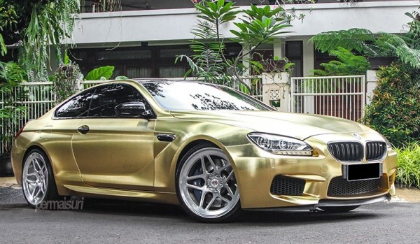 Textured Gold BMW M6 0 600x349 at Textured Gold BMW M6 on Vossen Wheels