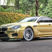 Textured Gold BMW M6 2 175x175 at Textured Gold BMW M6 on Vossen Wheels
