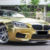 Textured Gold BMW M6 3 175x175 at Textured Gold BMW M6 on Vossen Wheels