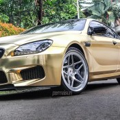 Textured Gold BMW M6 4 175x175 at Textured Gold BMW M6 on Vossen Wheels