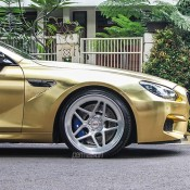 Textured Gold BMW M6 5 175x175 at Textured Gold BMW M6 on Vossen Wheels
