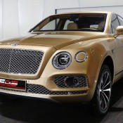 Bentley Bentayga Gold 2 175x175 at Gallery: Bentley Bentayga Looks Dapper in Gold