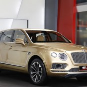 Bentley Bentayga Gold 8 175x175 at Gallery: Bentley Bentayga Looks Dapper in Gold