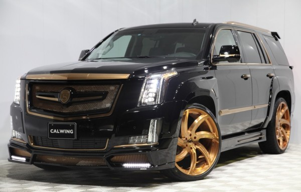 Calwing Cadillac Escalade Gold 0 600x384 at Calwing Cadillac Escalade Goes Black & Gold