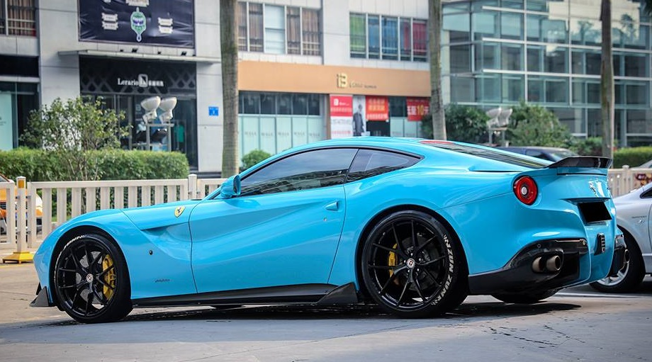Dmc Ferrari F12 Spotted In Baby Blue