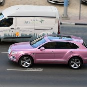 Pink Bentley Bentayga 5 175x175 at Pink Bentley Bentayga Spotted in the Wild