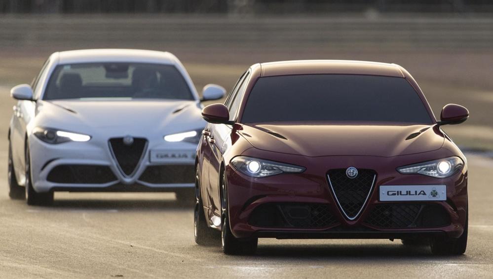 Alfa Romeo Giulia blindfolded lap 1 at Alfa Romeo Giulia QV Laps Silverstone Blindfolded!