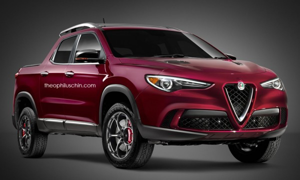 Alfa Romeo Stelvio Pickup Truck 600x360 at Alfa Romeo Stelvio Rendered as a Pickup Truck!