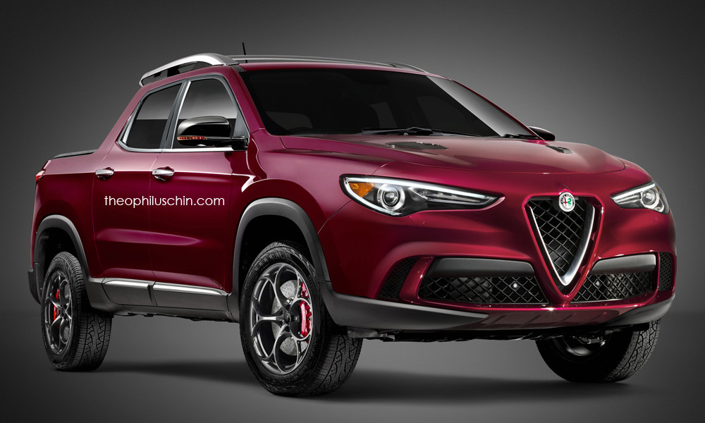 Alfa Romeo Stelvio Pickup Truck at Alfa Romeo Stelvio Rendered as a Pickup Truck!