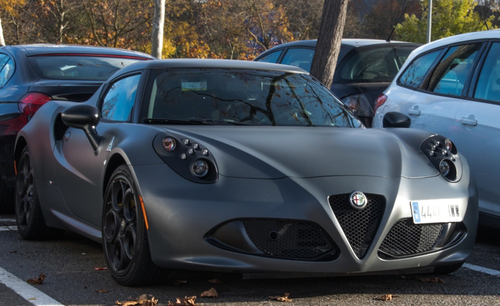 Gunmetal Alfa Romeo 4C 0 at Gunmetal Alfa Romeo 4C Is Freezingly Cool!