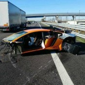 Lamborghini Aventador SV Crash 1 175x175 at Highway Crash Leaves Lamborghini Aventador SV in Bits