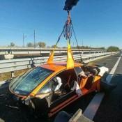 Lamborghini Aventador SV Crash 3 175x175 at Highway Crash Leaves Lamborghini Aventador SV in Bits