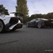 Lamborghini Aventador SV PUR 2 175x175 at 2x Lamborghini Aventador SV on Matching PUR Rims