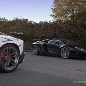 Lamborghini Aventador SV PUR 3 175x175 at 2x Lamborghini Aventador SV on Matching PUR Rims