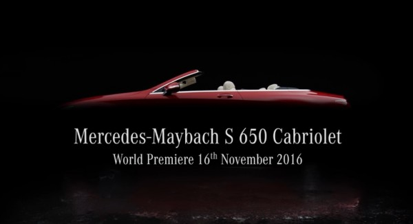 Mercedes Maybach S 650 Cabriolet 600x325 at Mercedes Maybach S 650 Cabriolet Teased for L.A. Debut