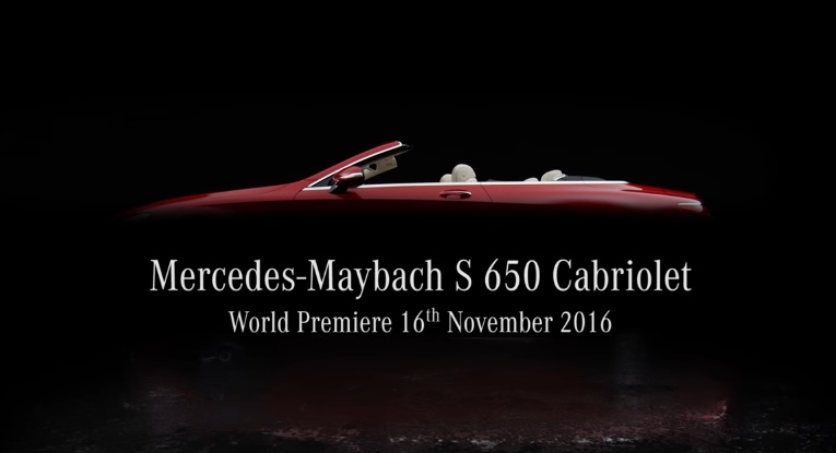 Mercedes Maybach S 650 Cabriolet at Mercedes Maybach S 650 Cabriolet Teased for L.A. Debut