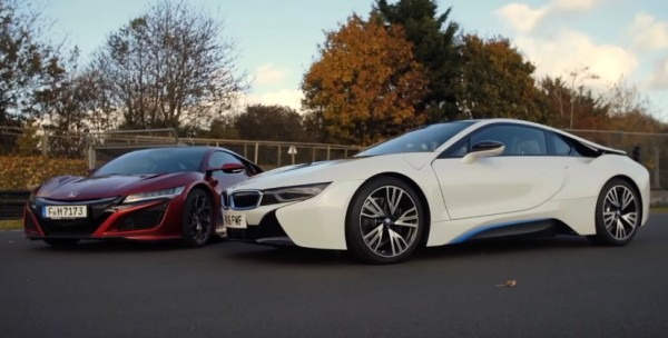 NSX vs i8 600x304 at Honda NSX Faces BMW i8 in Latest Comparison