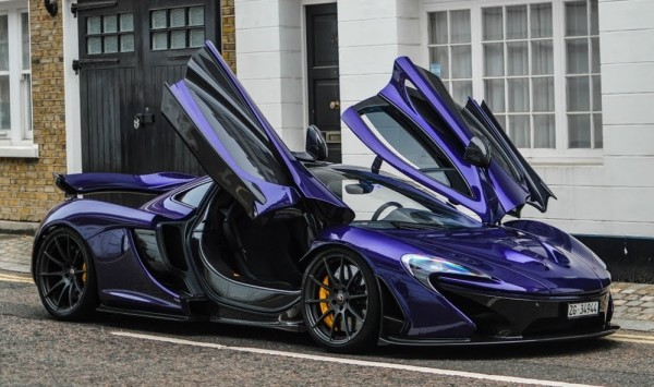 Purple McLaren P1 600x355 at Watch a Purple McLaren P1 Raise Hell in London