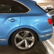 Royal Blue Bentley Bentayga Slammed 6 175x175 at Royal Blue Bentley Bentayga Spotted Sitting Unusually Low