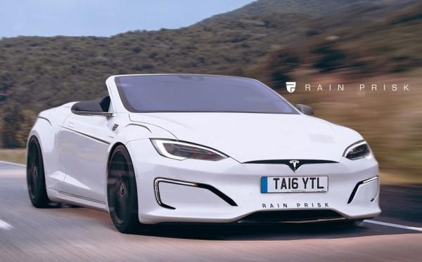 Tesla Model S Convertible 600x373 at Rendering: Tesla Model S Convertible