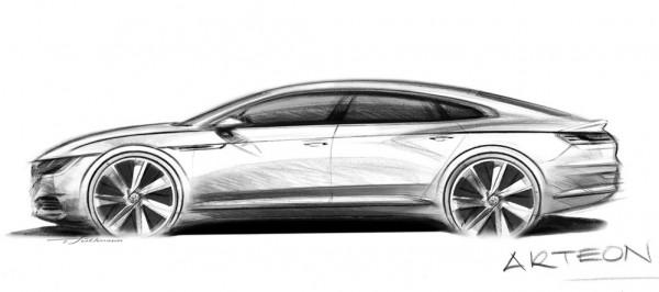 VW Arteon Teaser 600x266 at VW Arteon Teased for 2017 Geneva Debut