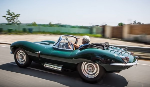 XKSS Leno 600x351 at Jay Leno Reviews the new Jaguar XKSS