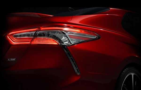 2018 Toyota Camry teaser 600x383 at 2018 Toyota Camry Teased Ahead of NAIAS Debut