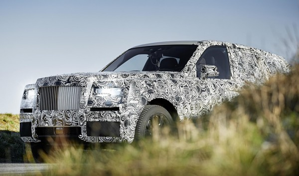 Rolls Royce Cullinan preview 1 600x353 at Rolls Royce Cullinan SUV Shows its General Shape