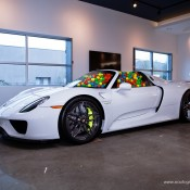 SR Auto porsche 918 balls 6 175x175 at Porsche 918 Filled with Balls for a Noble Cause