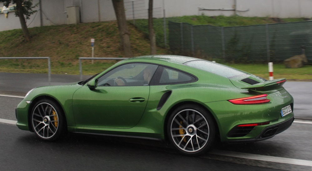 java green 991 turbo 0 at Java Green Porsche 991 Turbo S Looks Damn Special