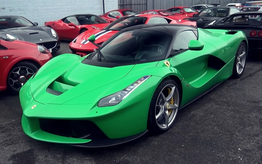 jay kay laferrari electric mode at Jay Kay's Green LaFerrari Filmed Driving in Electric Mode