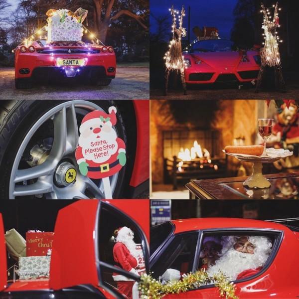 santa ferrari enzo 2 600x600 at Rich Santa Has a Ferrari Enzo Sleigh!