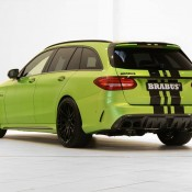 "Brabus Mercedes AMG C63 Wagon 650 2 175x175 at Brabus Mercedes AMG C63 Wagon 650 ""Green Hell"""