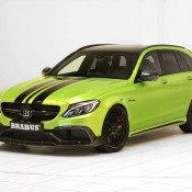 "Brabus Mercedes AMG C63 Wagon 650 6 175x175 at Brabus Mercedes AMG C63 Wagon 650 ""Green Hell"""