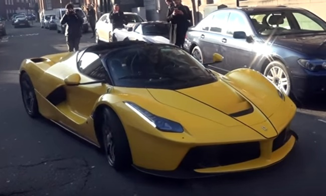 laferrari aperta london at LaFerrari Aperta with Lady Driver Is Pure Class