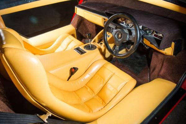 1983 Lamborghini Countach LP500S interior 2 HR 600x400 at Speed Record Holder Lamborghini Countach Up for Auction
