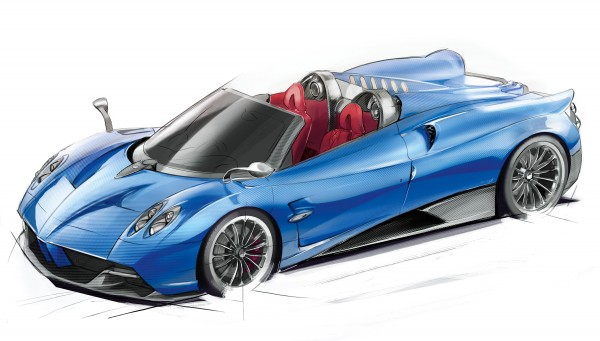 Huayra Roadster head 600x341 at Already Sold Out Pagani Huayra Roadster Unveiled