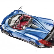 Huayra Roadster sketch back 1 175x175 at Already Sold Out Pagani Huayra Roadster Unveiled