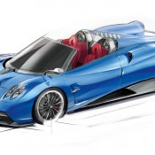 Huayra Roadster sketch front 1 175x175 at Already Sold Out Pagani Huayra Roadster Unveiled