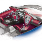 Huayra Roadster sketch interior 1 175x175 at Already Sold Out Pagani Huayra Roadster Unveiled