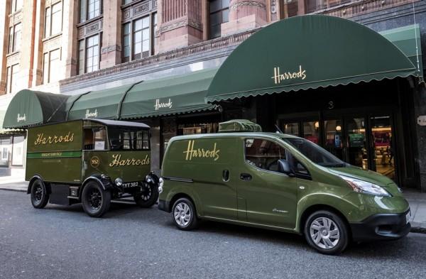 Nissan e NV200 0 600x393 at Harrods Get Electric Nissan e NV200 Delivery Van